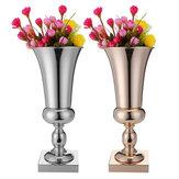 43cm Stunning Luxury Silver Gold Flower Vase Wedding Table Centrepiece Decor