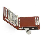 HerrenRFIDGeldbörseausechtemLeder mit Reißverschluss und Geldbörse