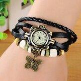 Dames casual vintage vlinder quartz horloge
