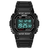 SANDA 329 Moda LED Display Homens Assista Impermeável Sport Digital Watch