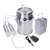 7L Electric Milking Machine Vacuum Impulse Pump Stainless Steel Cow Goat Milker