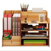 Organisateur de bureau multifonction support de rangement de bureau présentoir en bois réglable étagère porte-mouchoirs