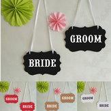 Bunting Banner Garland Romantic Fashion Wedding Ceremonia Wystrój pokoju Zdjęcie Rekwizyty