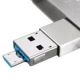 Meco 8/16/32/64GB 2 in One Mirco USB2.0 OTG Flash Drive U Disk With Key Ring