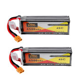 2Pcs ZOP Power 14.8V 4500mAh 4S 45C Lipo Batterie XT60 Stecker für RC Auto Boot Quadcopter