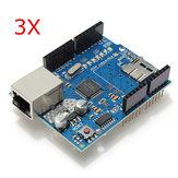 3-teiliges Ethernet-Abschirmmodul W5100 Micro-SD-Kartensteckplatz für UNO MEGA 2560 Geekcreit für Arduino - Produkte, die mit offiziellen Arduino-Karten funktionieren