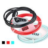 GIYO L-03 2M Anti-theft 4 Digits Code Bicycle Cable Lock para moto MTB Road Bike
