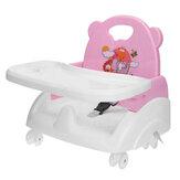 Eetkamerstoel voor kinderen met bord Baby-eettafel Kinderstoel Eettafel Opklapbare draagbare stoel Kinderstoel met katrol