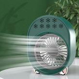 USB hordozható mini ventilátoros klímaberendezés, zajtalan 3 sebességes hűtés éjszakai fényvel otthoni irodai asztalhoz