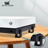 Suporte de aumento de versão horizontal Data Frog 4pcs para Xbox One / S / X Suporte de resfriamento de console de jogos para Xbox One Acessórios de jogos