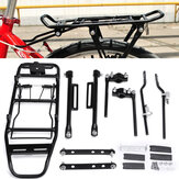 BIKIGHT 35KG Bearing Aluminum Alloy Bicycle Mountain Bike Rear Rack Seat Post Mount Luggage Carrier Cargo Rack For 24''-28'' Bikes