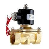 1/2 3/4 1インチ220V電気電磁弁空気圧バルブ空気ガス真ちゅう製バルブ空気バルブ