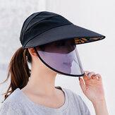 完全な保護のためのユニセックス防曇リムーバブルマスクサンハット