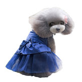 Summer Dog Dress Puppy Hot Drilling robe de mariée en dentelle Doggy jupe