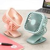 Миниатюрный охлаждающий вентилятор с квадратной формой для зарядки USB и настольным зажимом