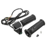 7/8 inch 24V/36V/48V LED Handlebar Grips Speed Adjustable For Mountain Electric Bike Scooter