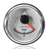 52mm 12V/24V 0-190Ω KUS 316 Stainless Steel Rudder Angle Table Indicator Gauge Meter Marine