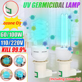 60W 100W 254NM LED UVC Mısır Ampul E27 UV Antiseptik Lamba Ev Sterilizasyon Dezenfeksiyon Işık AC110V / 220V