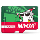 Mixza Christmas Shark Limited Edition 64GB U1 Klasse 10 TF Micro-geheugenkaart voor DSLR digitale camera TV Box MP3