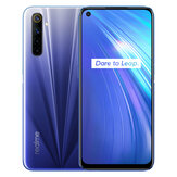 Realme 6 Global Version 6.5 inch FHD+ 90Hz Refresh Rate NFC Android 10 4300mA 64MP AI Quad Camera 4GB 64GB Helio G90T 4G Smartphone