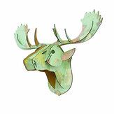 3D Puzzle modèle créatif européen en bois Animal tête de cerf décoration de la maison accessoires noël tenture murale artisanat