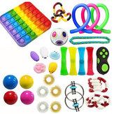 21/29 Uds Fidget Toys Sensorial Set Anti Stress Fidget Bubble Toys Descompresión Artefacto Mano Rompecabezas Juguetes para niños Adultos