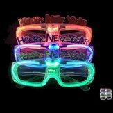 LED Güneş Gözlüğü Gözlük Işık Up Shades Yanıp Rave Gözlükler Parti Güneşlikler Parlayan Oyuncaklar
