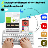 Dual Mode Keyboard Wireless bluetooth Rechargeable With Stand For Tablets/Mobile Phone