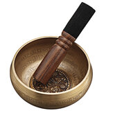 Tibetan Singing Bowl with Healing Mantra Engravings — Meditation Sound Bowl Handcrafted in Nepal