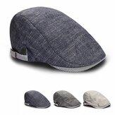 Mens Male Beret Retro Cotton Visor Gorras Planas Beret Hat