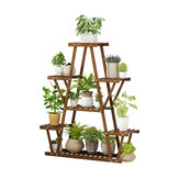 Multi-Tier Plant Rack Flower Pot Stand Wood Garden Storage Shelf Display Rack Home Office Furniture