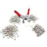 Kit de Fixadores 405PCS Snap Press Stud Cap Botões Anéis com Alicate de Fixação