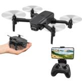 KF611 Mini WIFI FPV com câmera grande angular 4K HD Modo sem cabeça Altitude Segure Drone RC Dobrável Quadricóptero RTF