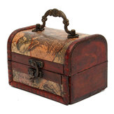 Christmas Decorative Gift Vintage Wooden Jewelry Box Storage Organizer Case
