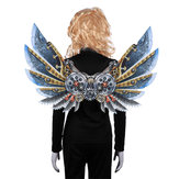 Mardi Gras Steampunk Gear Wings Cosplay Carnival Party Traje Unisex Wing Adereços