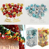 32PCS Christmas Tree Decoração Bolas Bateria Bells Baubles Ornaments Kids Children Party Supplies