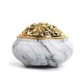 Antik røgelsesbrænder kegle sandeltræ Censer Holder buddhist Yoga Relax Decor