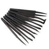 6st Straight Bend Anti-statische Tweezer Hittebestendig Reparatie Gereedschap