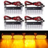 12V 22x4 LED Flash Bursztynowe światło awaryjne Lampa ostrzegawcza stroboskopowa