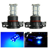 Pair 12V H16 5202 5050 2504 SMD LED Car Fog Light Bulbs DRL Lamp Deep Blue 10000k