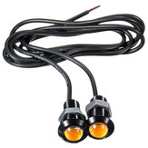 Coche 3W 18MM LED Eagle Eye Daytime Running DRL Luz de respaldo de cola