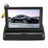 Car Wireless IR Rear View Backup Reversing Camera Kit Foldable LCD 4.3 Inch Monitor
