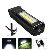 2LED+COB 400LM LED Work Light USB Rechargeable Foldable 270° Adjustable Flashlight Car Maintenance Light Camping Travel