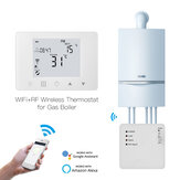 MoesHouse WiFi Smart LCD 5A Wall-Hung Gas Boiler Water Electric Underfloor Heating Temperature Controller Digital Weekly Programmable Thermostat Wall Mounted Work with Alexa Google Home