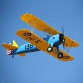 Dynam PT-17 1300mm apertura alare EPO biplano RC aereo PNP