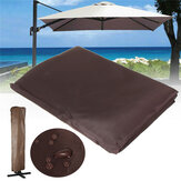260x70CM Castanho Waterproof Garden Patio Parasol Umbrella Outdoor Canopy Protective Cover