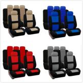 Universal Coche Juego completo de funda de cinco asientos Protectores de asiento trasero delantero lavable para mascotas