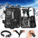 IPRee® 13 In 1 Outdoor EDC SOS Survival Case Kit d'outils multifonctionnels Box Camping Emergency