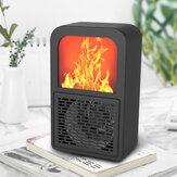 Портативный настольный 3D Mini Flame Electric Нагреватель Вентилятор 220 В 400 Вт Энергосберегающий 3-секундный однокнопочный переключатель нагрева