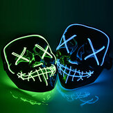 Original              Halloween LED Mask Purge Masks Election Mascara Costume DJ Party Light Up Masks Glow In Dark 10 Colors To Choose